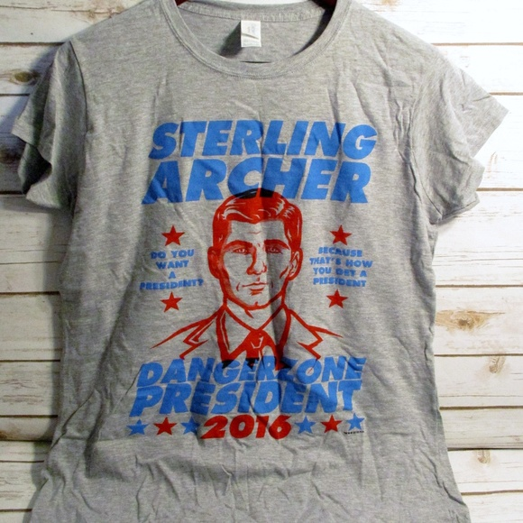 Loot Crate Tops - Sterling for President 2016 T-Shirt - XL